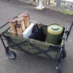 20130923 お墓用キャリーカーで荷物も楽々(笑)